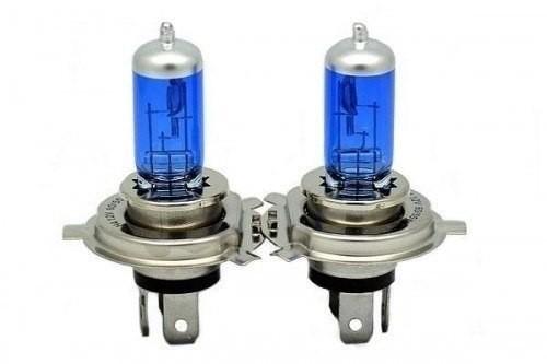 Par Lâmpada Super Brancas H4 12V 60/55W 8500K Efeito Xênon