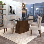 Conjunto Sala de Jantar Mesa Sorela  + 6 cadeiras Áurea Dj Móveis