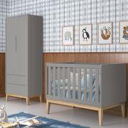 Dormitório Classic Retrô Com Guarda Roupa 2 Portas  + Berço Mini Cama - Reller