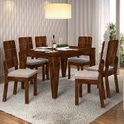 Mesa Charme Retangular  com Cadeiras Dama - Dj Móveis