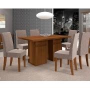 Mesa de Jantar Napoli Retangular com 6 Cadeiras Olímpia - DJ Móveis