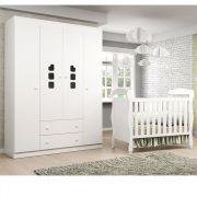 Quarto de Bebê com Guarda Roupa 4 Portas Livia Phoenix Baby + Berço J 0062
