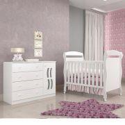Quarto Infantil com Berço Dan + Cômoda New Livia - Phoenix Baby