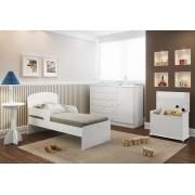 Quarto Infantil com Cômoda, Mesa de Apoio, Baú e Mini Camai Multimóveis