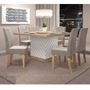 Sala De Jantar Com Mesa Vince + 6 Cadeiras Olímpia - Dj Móveis