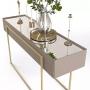 Kit  Aparador + Mesa de Centro Para Sala Estar Espelhado Suri  - Dj Móveis