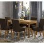 Mesa de Jantar Chan Retangular 140 x 80 cm 6 Cadeiras Vita - Henn