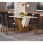 Mesa de Jantar Epic 160 x 80 cm 6 Cadeiras Tauá - Henn