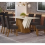 Mesa de Jantar Epic 160 x 80 cm 6 Cadeiras Vita - Henn