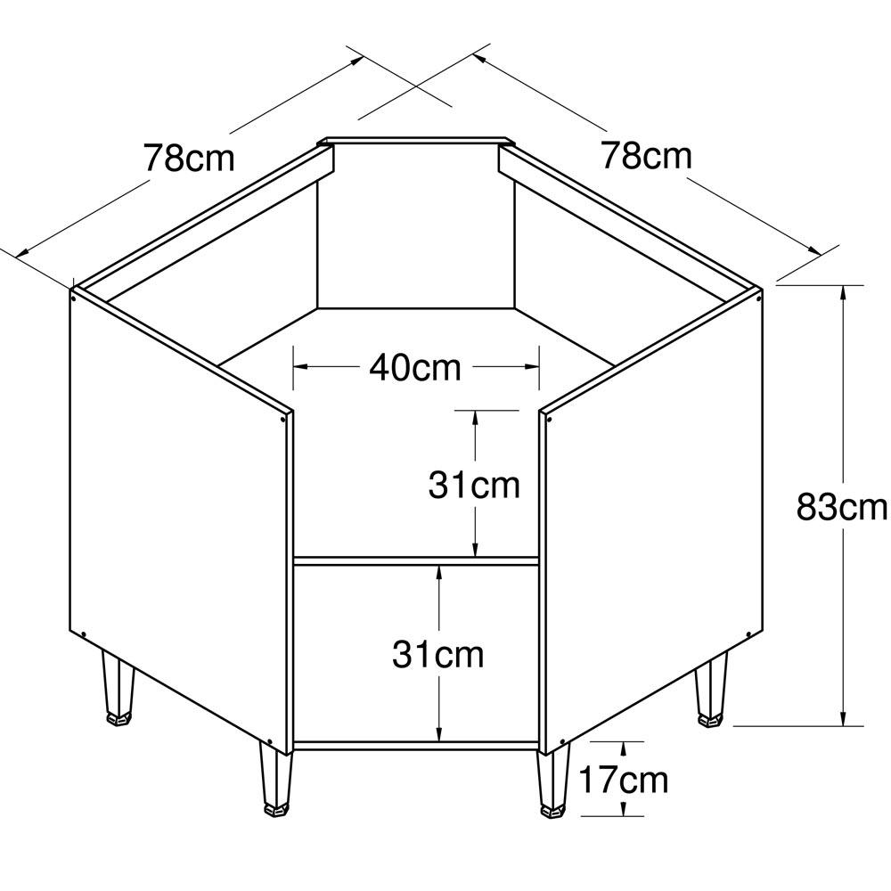 Balcão 1 Portas 0,78X0,78/610 Art In Móveis