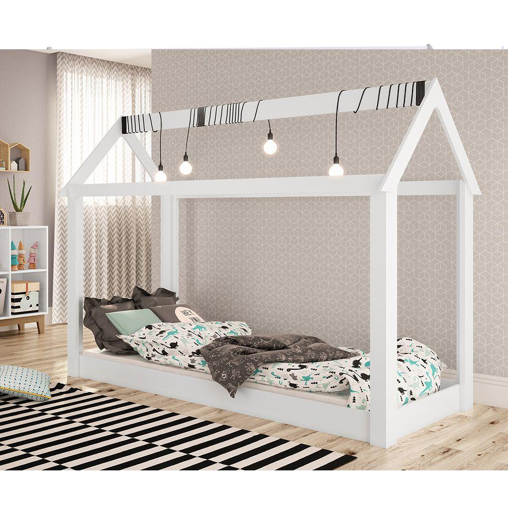 Cama Montessoriana BY 400 Branco Completa Móveis