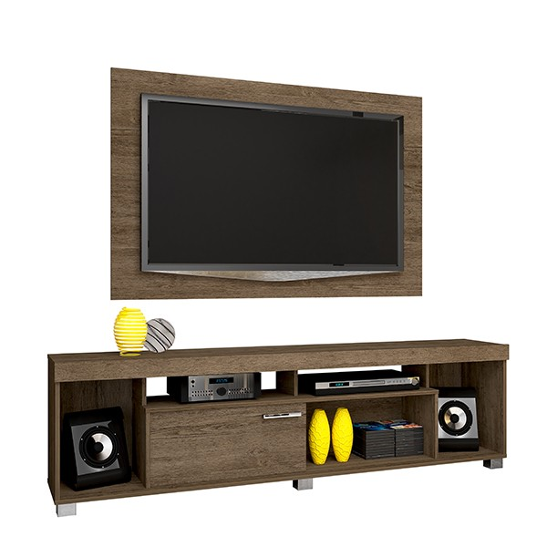 Combo Painel e Rack para TV Tomaz - Madetec
