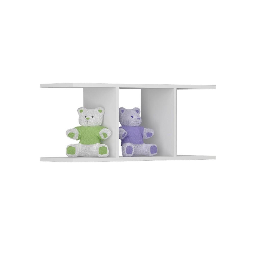 Cômoda, Prateleira e Berço Cômoda Kit de 3 Peças da Linha Sorvete Seco Plus Multimóveis