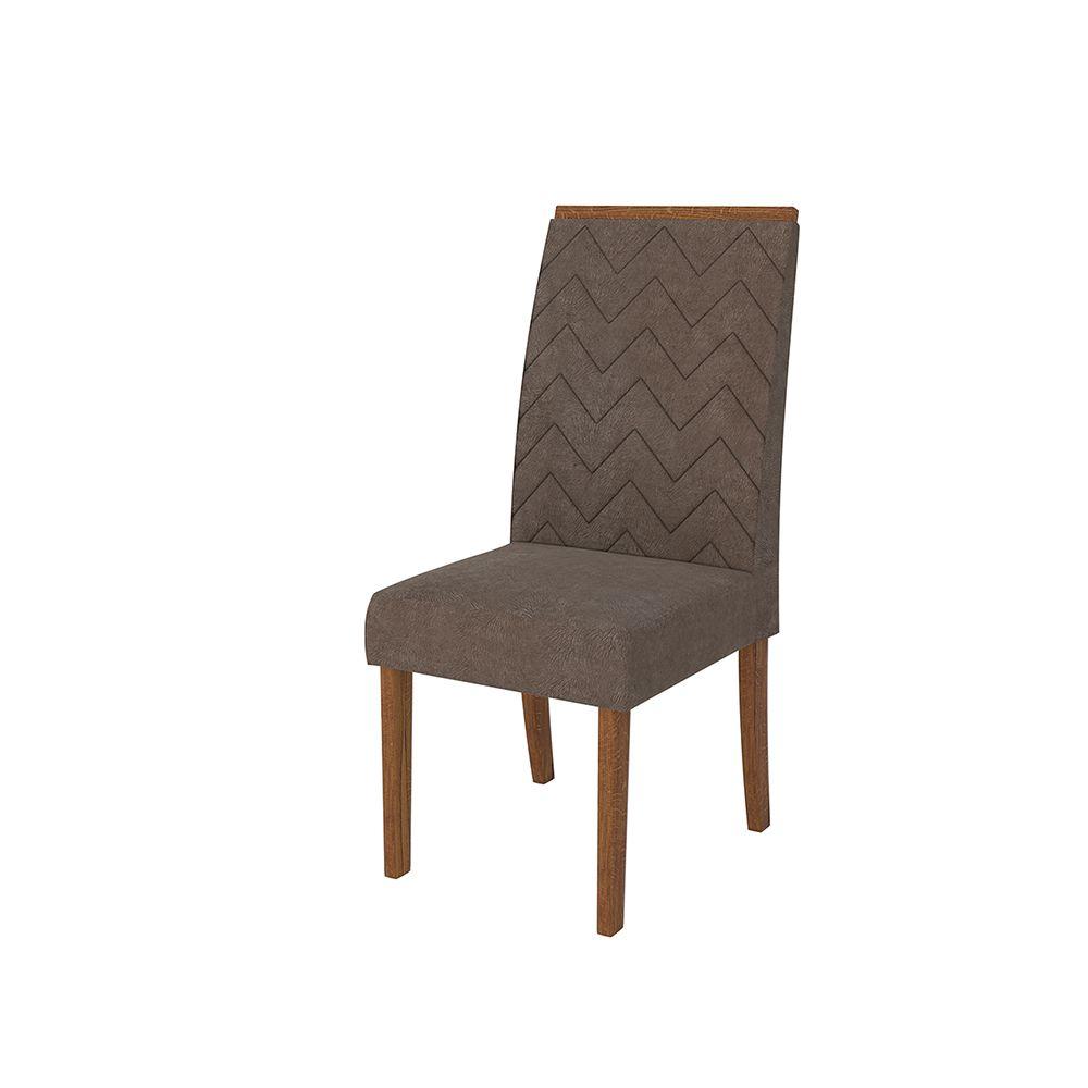 Conjunto 2 Cadeiras Áurea Encosto e Assento com Espuma - Dj Móveis