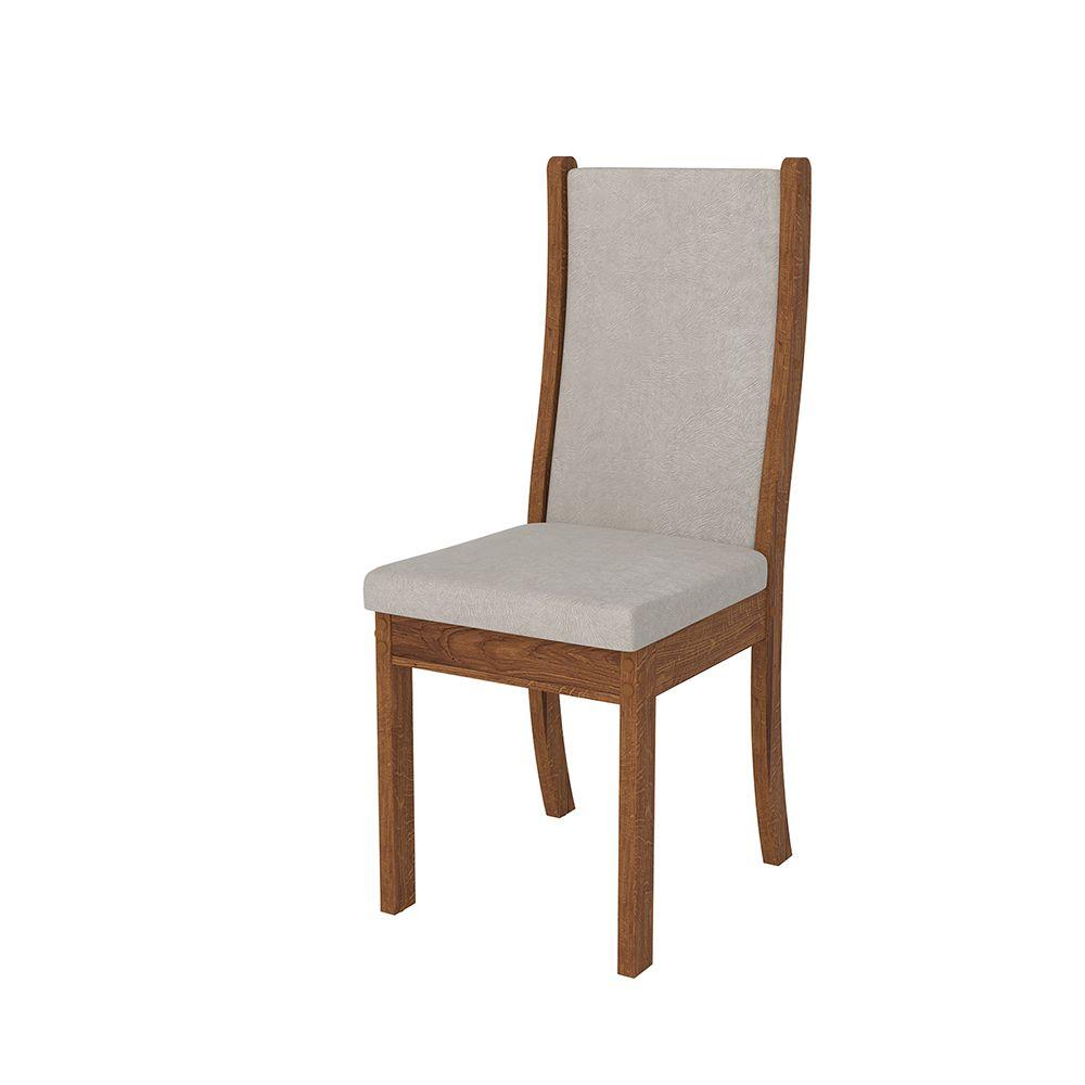Conjunto 2 Cadeiras  Malta Encosto e Assento com Espuma - Dj Móveis