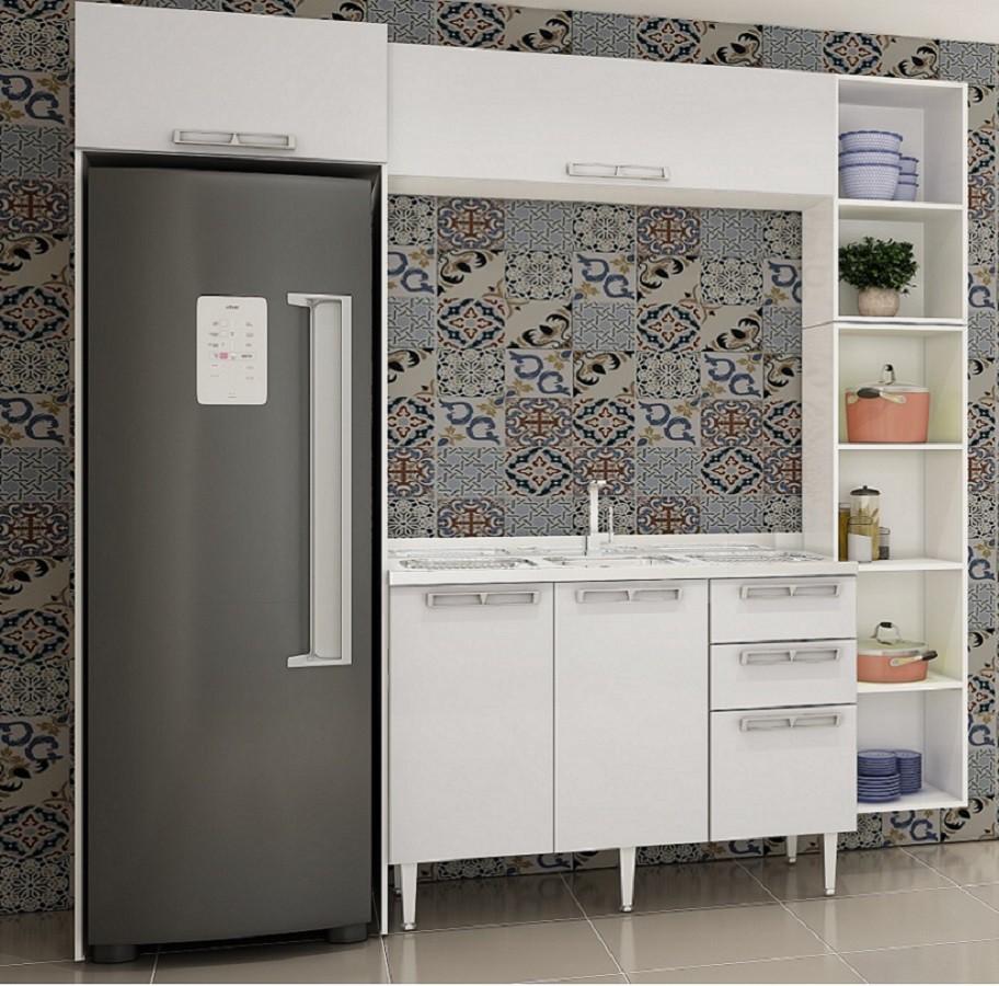 Conjunto De Cozinha Completa 11 Mia Coccina Com Aéreos E Balção - Art In Móveis