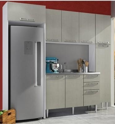 Conjunto de Cozinha Completa 12 Mia Coccina Com Aéreos e Balção - Art In Móveis