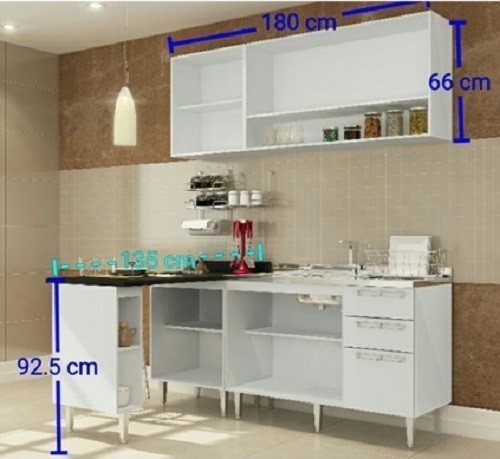 Conjunto De Cozinha Completa 9 Mia Coccina - Art In Móveis