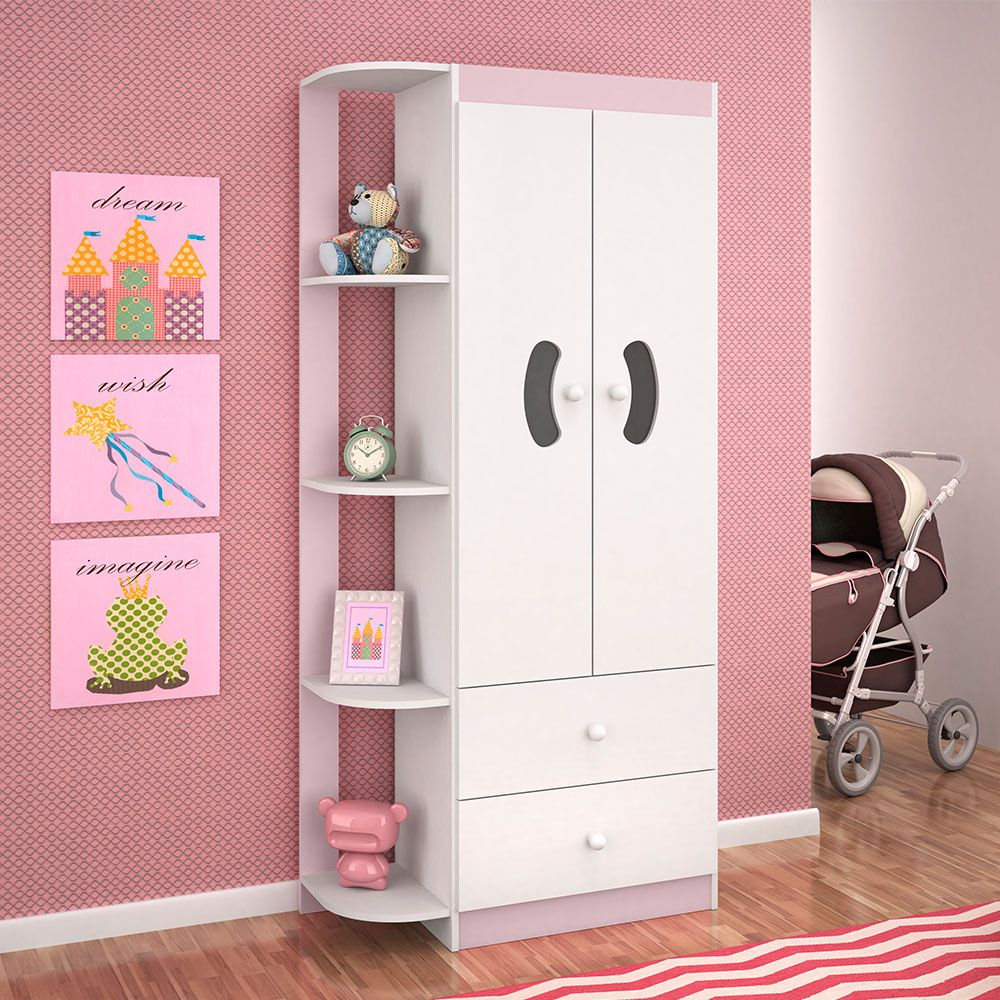 Guarda Roupa Infantil 3 Portas 2 Gavetas Ternura Flex Color Peternella