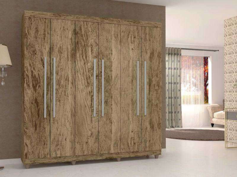 Guarda Roupas Elegance 6 Portas Sem Espelho Vila Rica