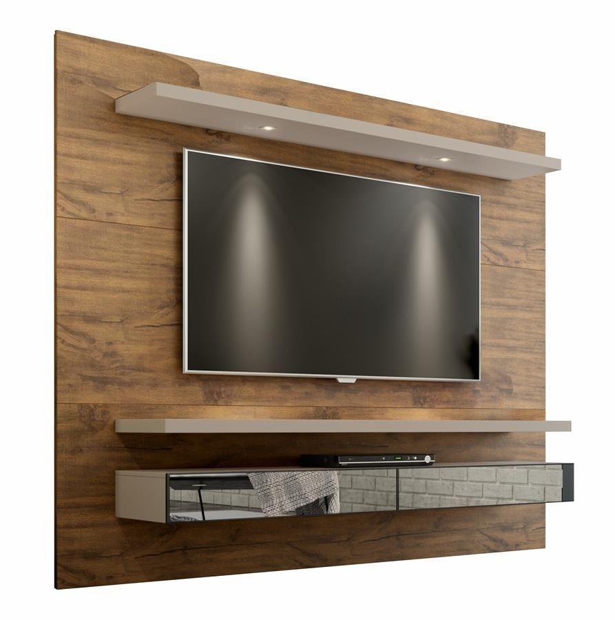 Home Suspenso Para Tv Com Led E Espelho Tb108E Dalla Costa