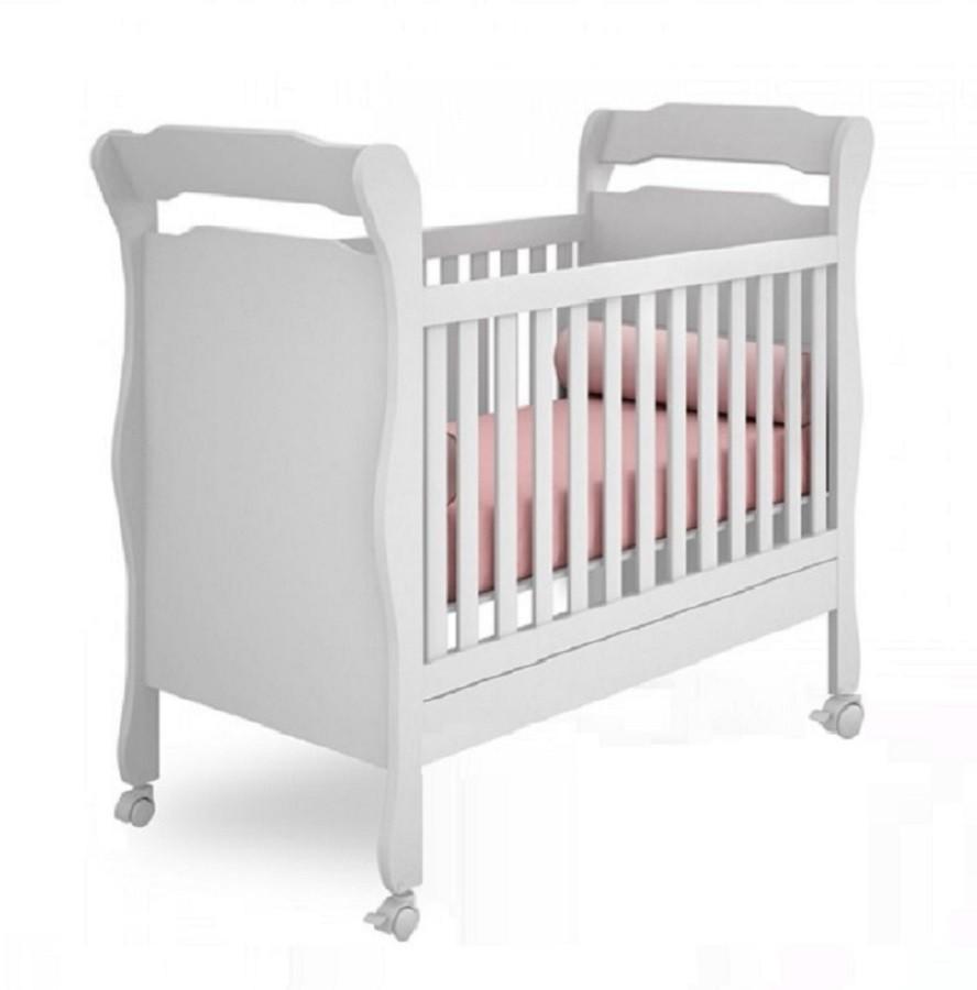 Quarto De Bebê Com Guarda Roupa 04 Portas E Cômoda Letícia + Berço Mini Cama Amore 250 - Phoenix Baby