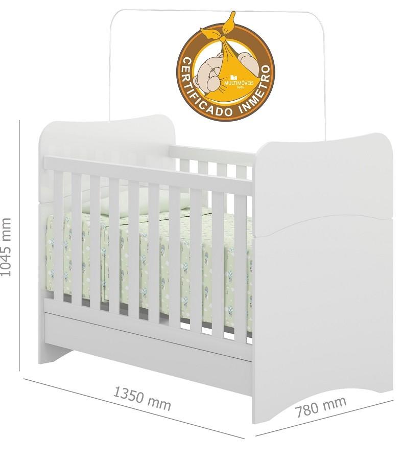 Jogo De Quarto De Bebê Com Guarda Roupa, Cômoda, E Berço Mini Cama Linha Chantilly Multimóveis