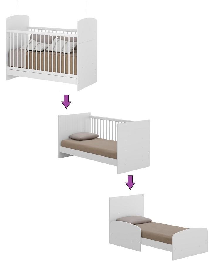 Jogo De Quarto De Bebê Com Guarda Roupa, Cômoda, E Berço Mini Cama Linha Pingo De Leite Multimóveis