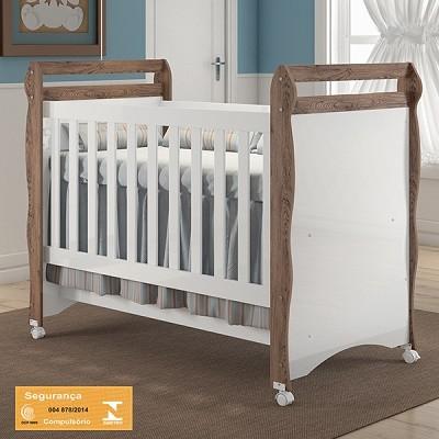 Jogo De Quarto Para Bebê Com Guarda Roupa 3 Portas + Cômoda Selena + Berço Mini Cama Mirelle - Carolina Baby