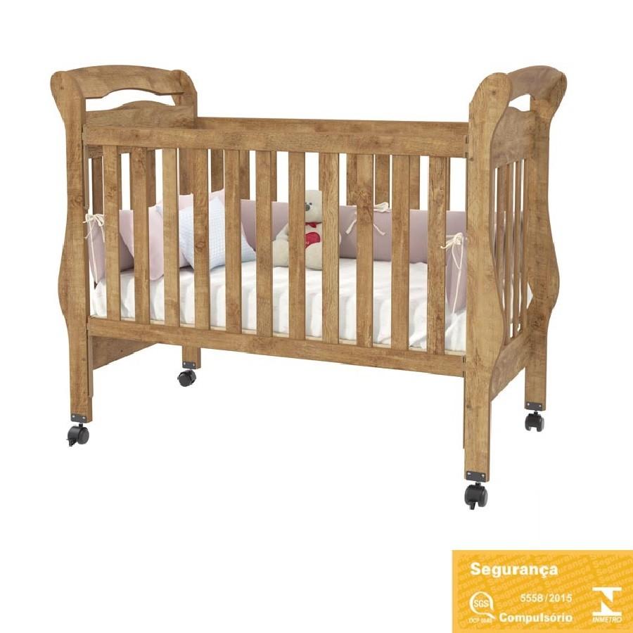 Jogo De Quarto Para Bebê Com Guarda Roupa 4 Portas + Cômoda Delicato + Berço Bambini Matic