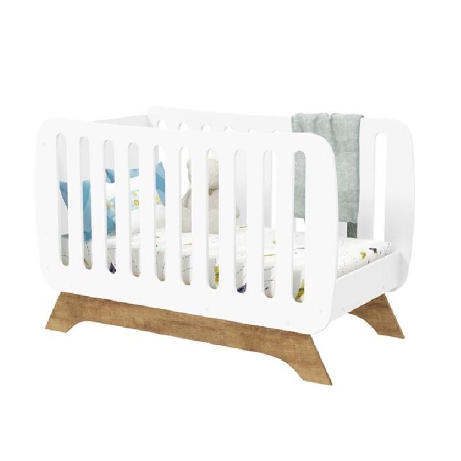 Jogo de Quarto para Bebê com Guarda Roupa 4 Portas + Cômoda  Mamma + Berço Qualitá Matic