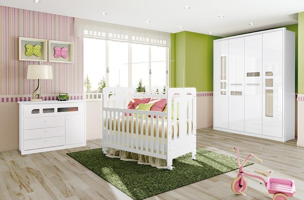 ce4a712aa7 Jogo De Quarto Para Bebê Guarda Roupa 4 Portas