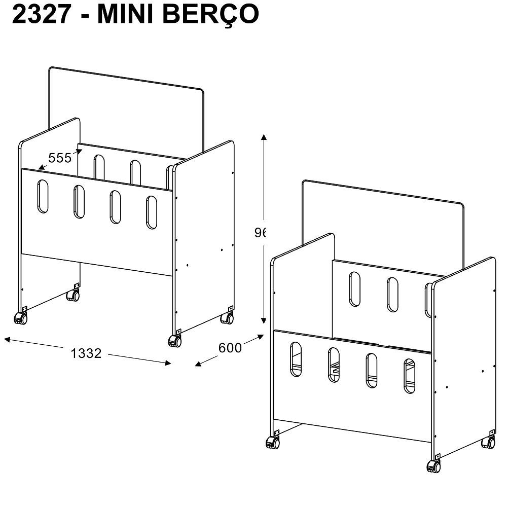 Mini Berço 2327 Com Colchão Multimóveis
