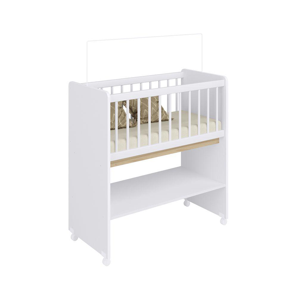 Mini Berço Moisés com Colchão Branco BY 501 Completa Móveis