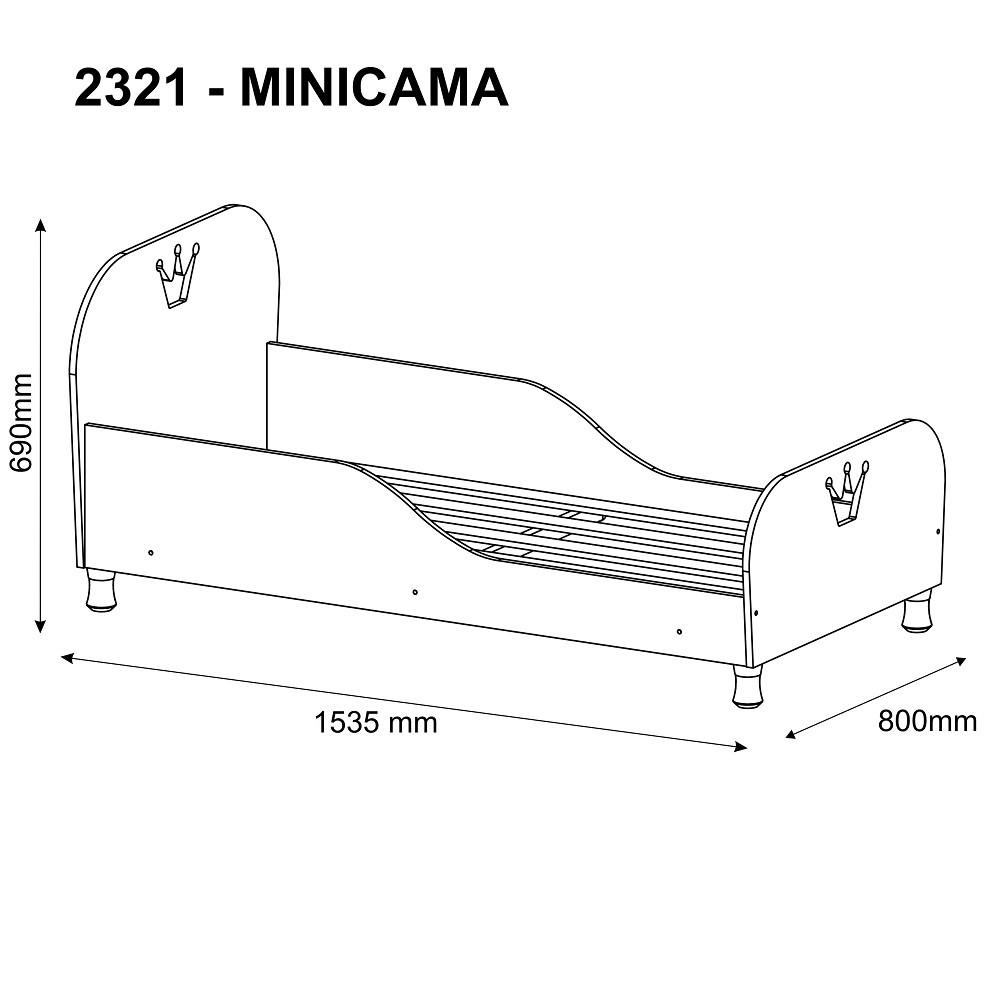 Mini Cama Infantil Rei/Rainha 2321 Multimóveis