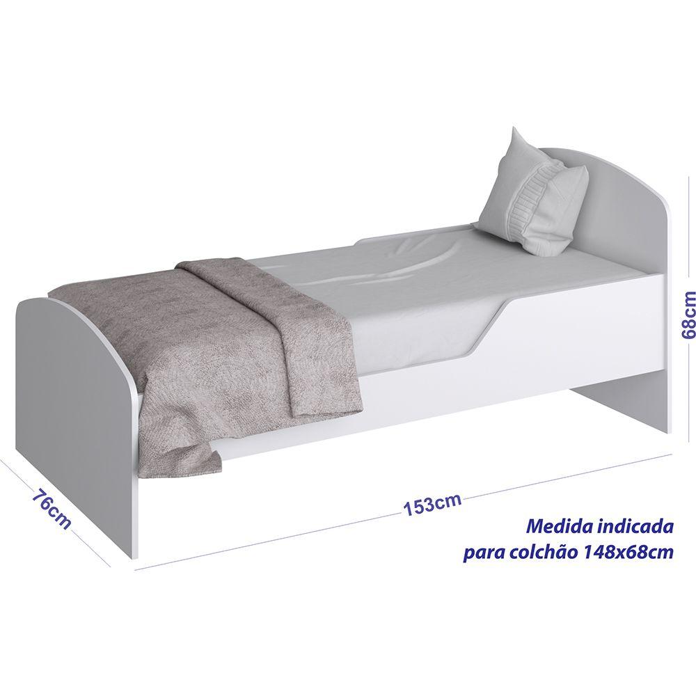 Minicama Infantil BY 300 Branco Completa Móveis