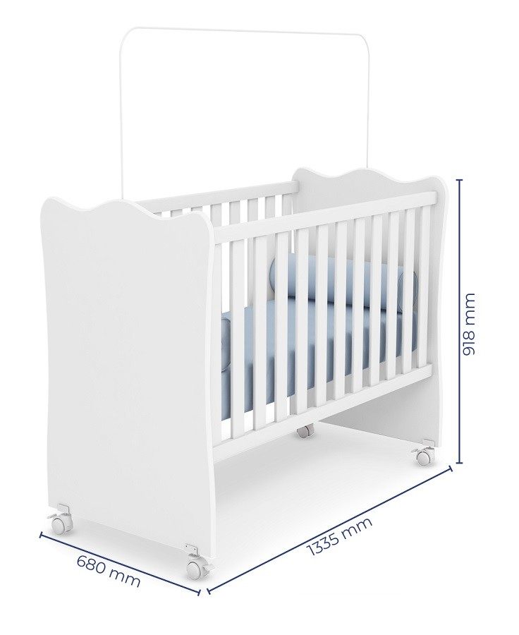 Móveis De Bebê Com Guarda Roupa + Cômoda Helena + Berço 102 - Phoenix Baby
