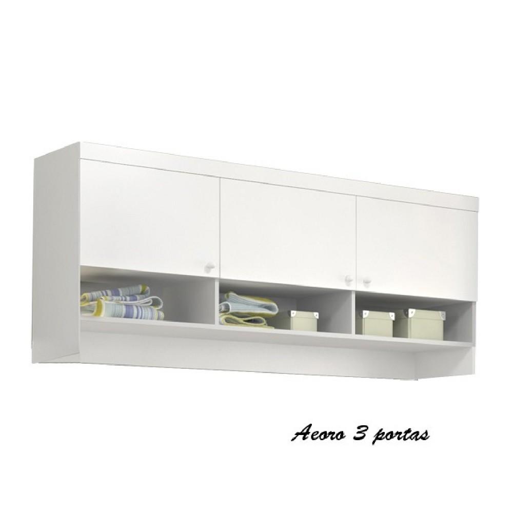Móveis Para Quarto Infantil Com Guarda Roupa De 1 E 2 Portas + Modulo Aéreo + Cômoda Eloísa - Phoenix