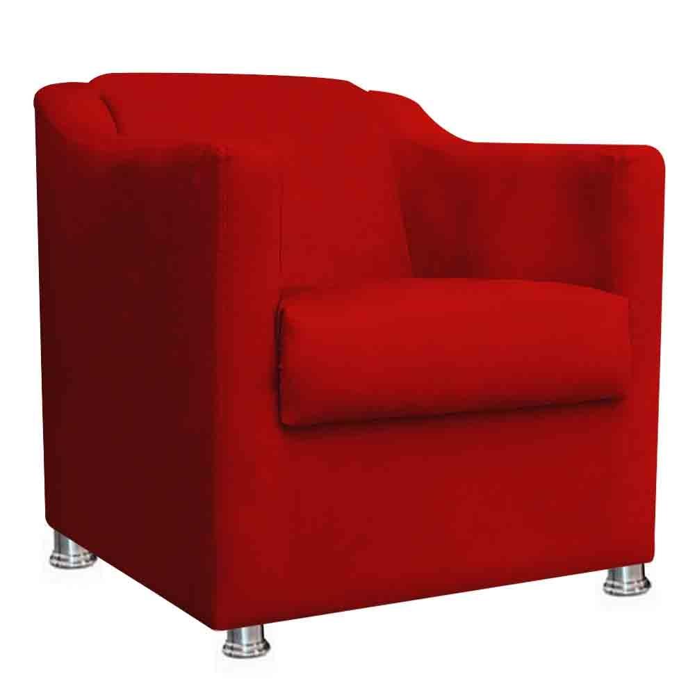 Poltrona Decorativa Tila Vermelha - EM Moveis