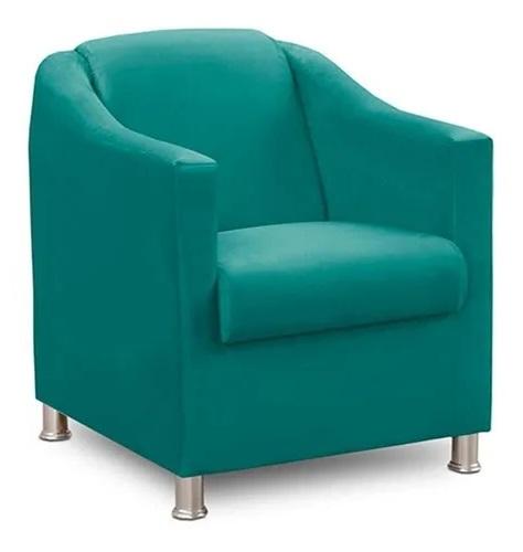 Poltrona  para Sala de Recepção Tila Azul Tifany - EM Moveis