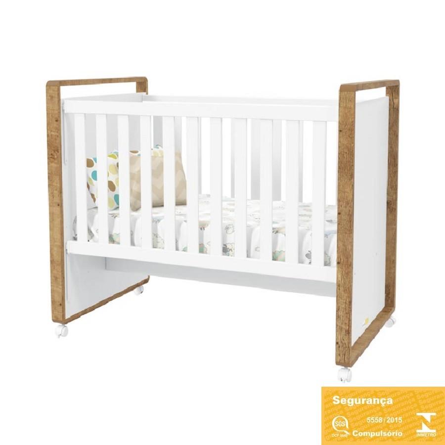 Quarto Completo para Bebê com Roupeiro 4 Portas + Cômoda + Berço Tutto New Matic