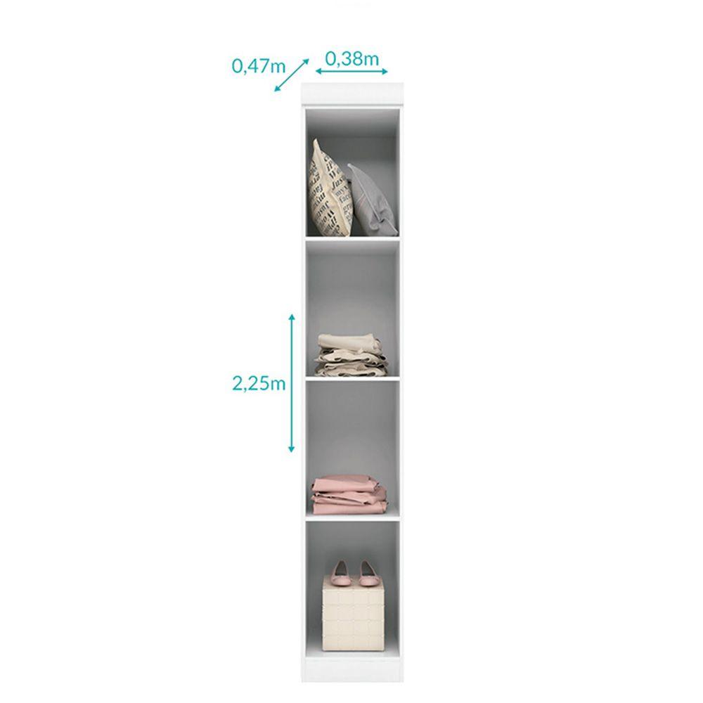 Quarto de Bebê Com Guarda Roupa De 1 E 2 Portas + Modulo Aéreo + Cômoda Eloísa - Phoenix