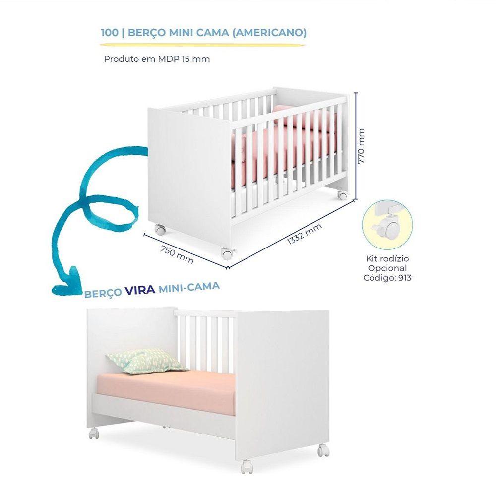 Quarto Infantil Com Guarda Roupa + Cômoda - Branco/Carvalho - Qmovi