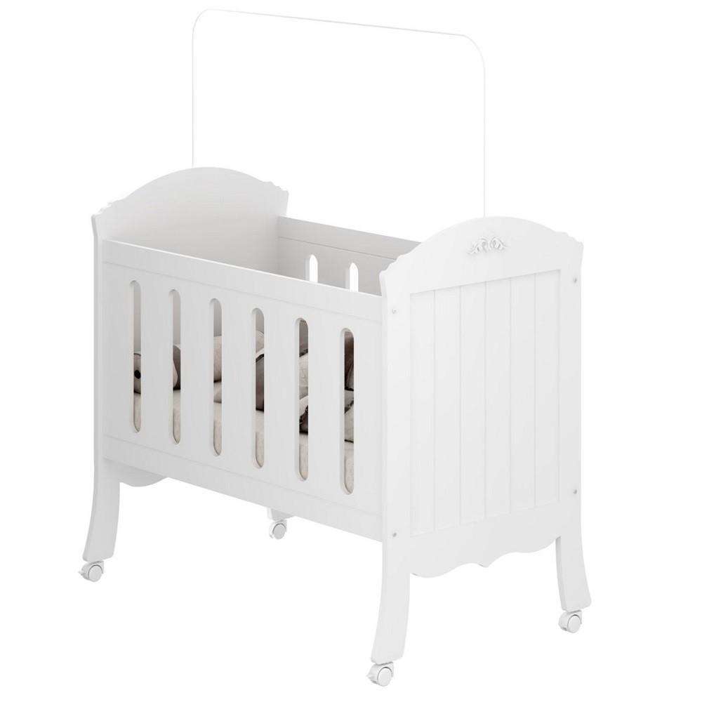 Quarto Para Bebê Com Guarda Roupa 4 Portas, Berço E Cômoda Linha Madeleine Multimoveis