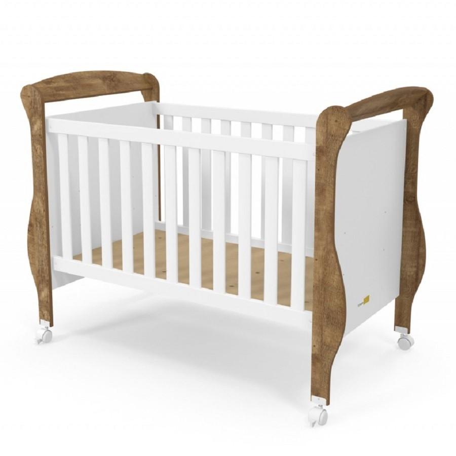 Quarto para Bebê com Guarda Roupas 3 Portas + Cômoda + Berço Mini Cama Smart Matic