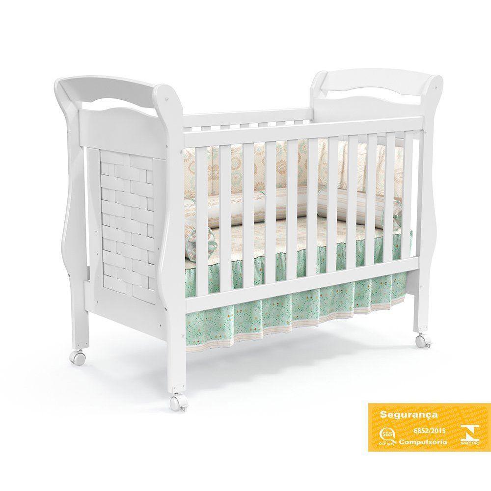 Quarto Para Bebê Com Guarda Roupas 4 Portas + Cômoda Treliça + Berço Mini Cama Elegance Matic