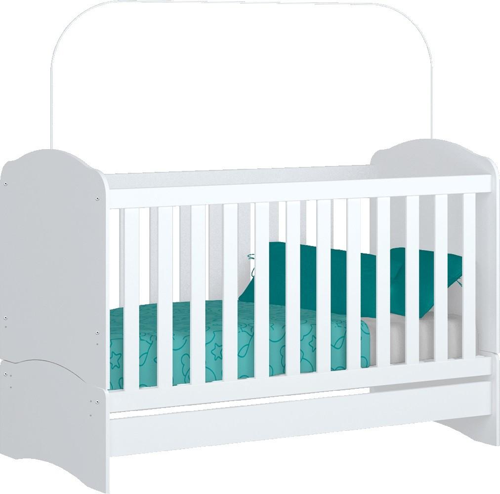 Quarto Para Bebê, Roupeiro Caju 04 Portas, Cômoda, Berço Mini Cama Bala De Menta - Henn