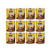 12 Latas Alimento Úmido para Cães Patê Sabor Cordeiro 280g Bone Apettit