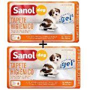 Tapete Higiênico Para Cães (Tapete absorvente descartável para cachorro) Sanol C/ 60 Unidades - 80x60cm