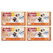 4 unidades Tapete Higienico Para Cachorro Sanol Dog - 80x60cm - 120 tapetes ao todo